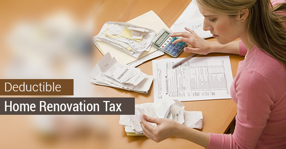 Is a home renovation tax deductible avonlea renovations for Tax deductions for home improvements
