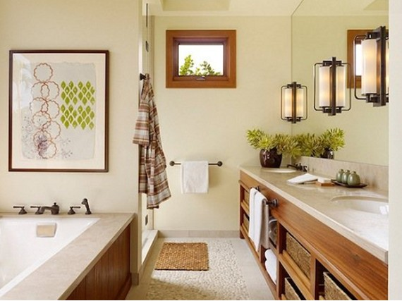 Cozy And Rustic Bathroom