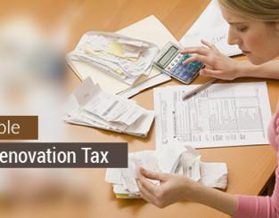 Home Renovation Tax