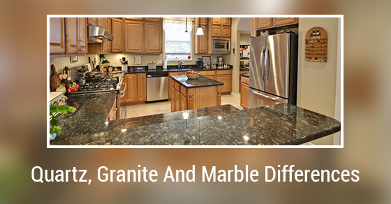 Differences Between Quartz Granite And Marble Counter Tops Kitchen Countertops
