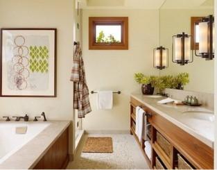 Cozy And Rustic Bathroom