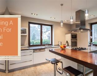 Kitchen For Optimal Storage Space