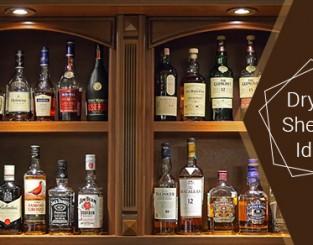 Dry Bar Shelving Ideas